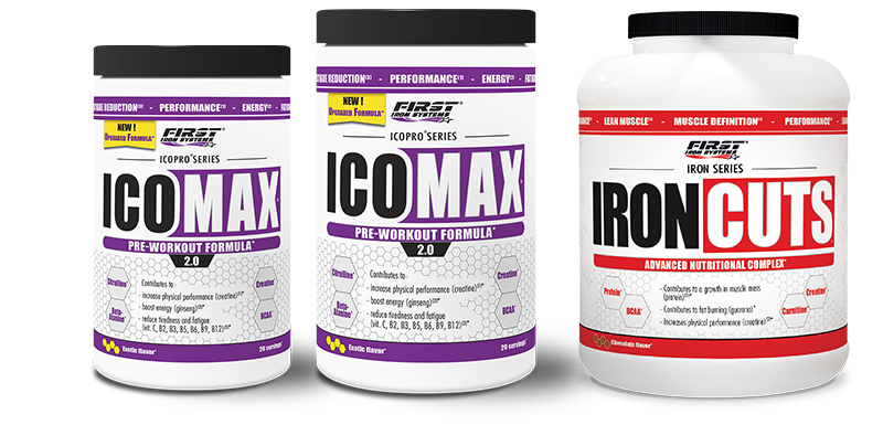 pack de 2 Icomax 2.0 et Iron Cuts 1100g