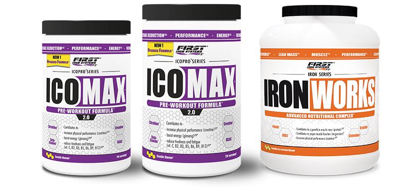 pack de 2 Icomax 2.0 et Iron Works 1100g