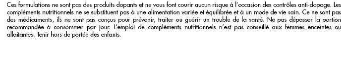 Informations sur nos complements alimentaires