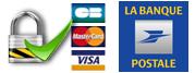 CB, VISA, Mastercard, La Banque Postale